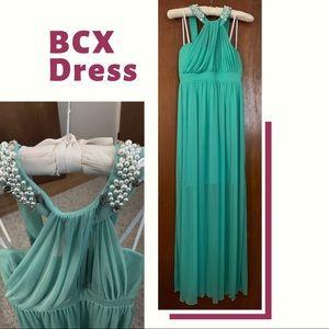Beaded illusion dress